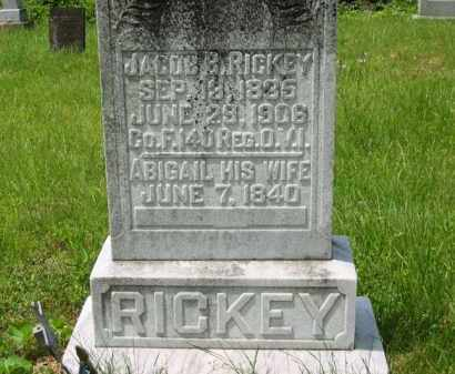 RICKEY, JACOB B. - Scioto County, Ohio | JACOB B. RICKEY - Ohio Gravestone Photos