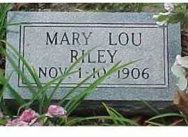 RILEY, MARY LOU - Scioto County, Ohio | MARY LOU RILEY - Ohio Gravestone Photos