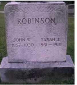 ROBINSON, SARAH J. - Scioto County, Ohio | SARAH J. ROBINSON - Ohio Gravestone Photos