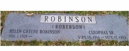 GREENE ROBINSON (ROBERSON), HELEN - Scioto County, Ohio   HELEN GREENE ROBINSON (ROBERSON) - Ohio Gravestone Photos