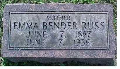 BENDER RUSS, EMMA - Scioto County, Ohio | EMMA BENDER RUSS - Ohio Gravestone Photos
