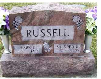 RUSSELL, EARNIE - Scioto County, Ohio   EARNIE RUSSELL - Ohio Gravestone Photos