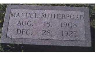 RUTHERFORD, MATTIE L. - Scioto County, Ohio | MATTIE L. RUTHERFORD - Ohio Gravestone Photos