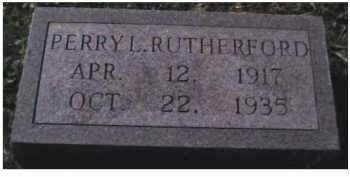 RUTHERFORD, PERRY L. - Scioto County, Ohio | PERRY L. RUTHERFORD - Ohio Gravestone Photos