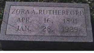 RUTHERFORD, ZORA A. - Scioto County, Ohio | ZORA A. RUTHERFORD - Ohio Gravestone Photos