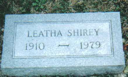 SHIREY, LEATHA - Scioto County, Ohio | LEATHA SHIREY - Ohio Gravestone Photos