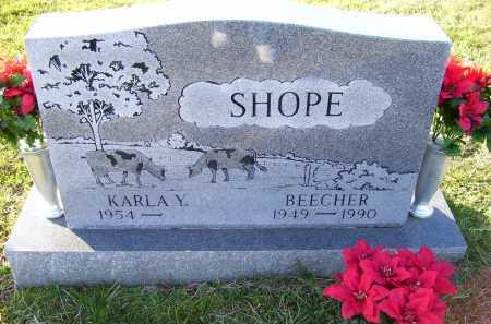 SHOPE, BEECHER - Scioto County, Ohio | BEECHER SHOPE - Ohio Gravestone Photos