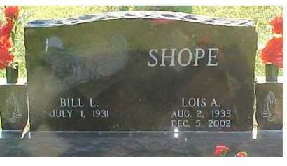 SHOPE, BILL L. - Scioto County, Ohio | BILL L. SHOPE - Ohio Gravestone Photos