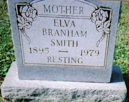 BRANHAM SMITH, ELVA - Scioto County, Ohio   ELVA BRANHAM SMITH - Ohio Gravestone Photos