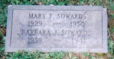 SOWARDS, MARY F. - Scioto County, Ohio | MARY F. SOWARDS - Ohio Gravestone Photos