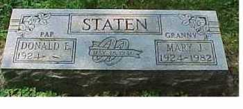 STATEN, DONALD E. - Scioto County, Ohio | DONALD E. STATEN - Ohio Gravestone Photos