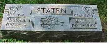 STATEN, DONALD E. - Scioto County, Ohio | DONALD E. STATEN - Ohio Gravestone Photos