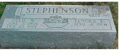 STEPHENSON, OLLIE W. - Scioto County, Ohio | OLLIE W. STEPHENSON - Ohio Gravestone Photos