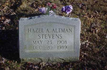 ALTMAN STEVENS, HAZEL A. - Scioto County, Ohio | HAZEL A. ALTMAN STEVENS - Ohio Gravestone Photos