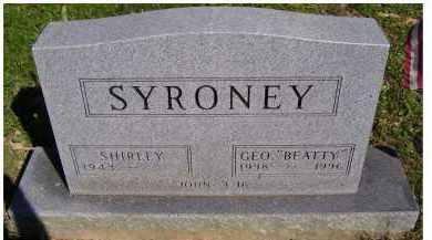 SYRONEY, SHIRLEY - Scioto County, Ohio | SHIRLEY SYRONEY - Ohio Gravestone Photos
