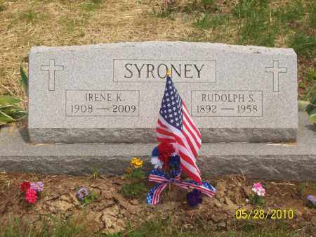 SYRONEY, RUDOLPH - Scioto County, Ohio | RUDOLPH SYRONEY - Ohio Gravestone Photos