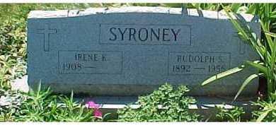 SYRONEY, IRENE K. - Scioto County, Ohio   IRENE K. SYRONEY - Ohio Gravestone Photos