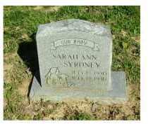 SYRONEY, SARAH ANN - Scioto County, Ohio | SARAH ANN SYRONEY - Ohio Gravestone Photos