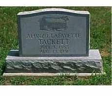TACKETT, ALONZO LAFAYETTE - Scioto County, Ohio | ALONZO LAFAYETTE TACKETT - Ohio Gravestone Photos