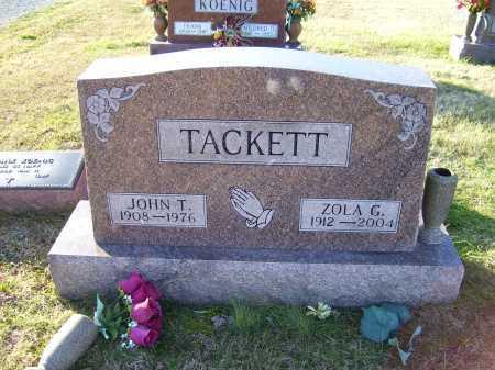 TACKETT, JOHN T. - Scioto County, Ohio | JOHN T. TACKETT - Ohio Gravestone Photos