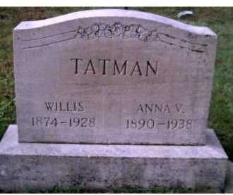 TATMAN, ANNA V. - Scioto County, Ohio | ANNA V. TATMAN - Ohio Gravestone Photos