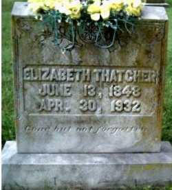 THATCHER, ELIZABETH - Scioto County, Ohio | ELIZABETH THATCHER - Ohio Gravestone Photos
