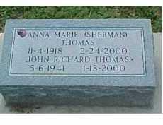 THOMAS, JOHN RICHARD - Scioto County, Ohio | JOHN RICHARD THOMAS - Ohio Gravestone Photos