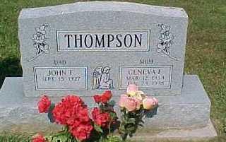 THOMPSON, JOHN T. - Scioto County, Ohio | JOHN T. THOMPSON - Ohio Gravestone Photos