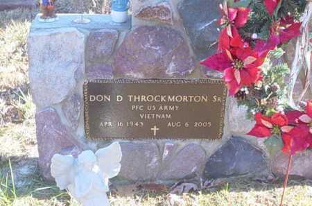 THROCKMORTON, DON D. SR. - Scioto County, Ohio | DON D. SR. THROCKMORTON - Ohio Gravestone Photos