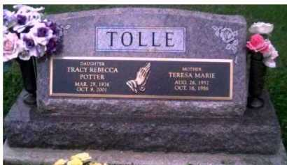 TOLLE POTTER, TRACY REBECCA - Scioto County, Ohio | TRACY REBECCA TOLLE POTTER - Ohio Gravestone Photos