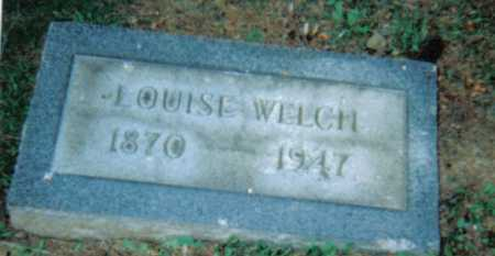 WELCH, LOUISE - Scioto County, Ohio   LOUISE WELCH - Ohio Gravestone Photos