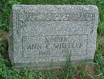 WHEELER, ANN E. - Scioto County, Ohio | ANN E. WHEELER - Ohio Gravestone Photos