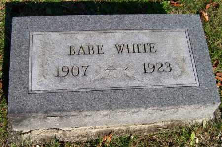 WHITE, BABE - Scioto County, Ohio | BABE WHITE - Ohio Gravestone Photos