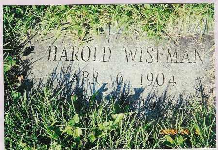 WISEMAN, HAROLD - Scioto County, Ohio   HAROLD WISEMAN - Ohio Gravestone Photos