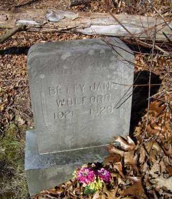 WOLFORD, BETTY JANE - Scioto County, Ohio | BETTY JANE WOLFORD - Ohio Gravestone Photos