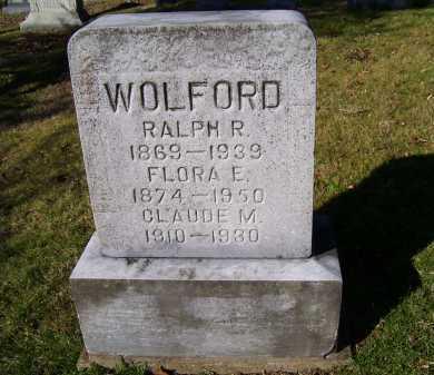 WOLFORD, FLORA E. - Scioto County, Ohio | FLORA E. WOLFORD - Ohio Gravestone Photos