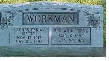WORKMAN, BENJAMIN FRANK - Scioto County, Ohio | BENJAMIN FRANK WORKMAN - Ohio Gravestone Photos
