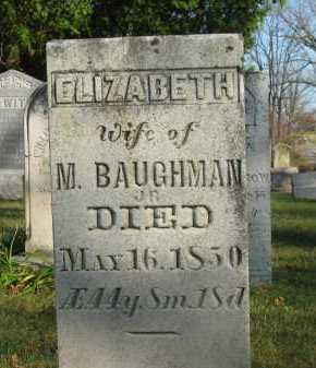 BAUGHMAN, M. - Seneca County, Ohio | M. BAUGHMAN - Ohio Gravestone Photos
