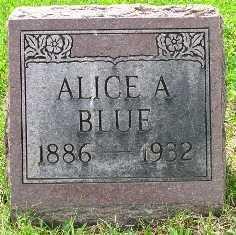 BLUE, ALICE A. - Seneca County, Ohio   ALICE A. BLUE - Ohio Gravestone Photos