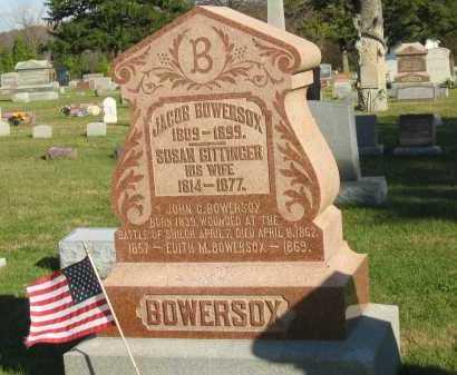 BOWERSOX, JACOB - Seneca County, Ohio | JACOB BOWERSOX - Ohio Gravestone Photos