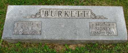 BURKETT, ADA - Seneca County, Ohio   ADA BURKETT - Ohio Gravestone Photos