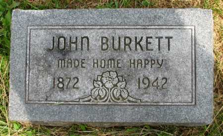 BURKETT, JOHN - Seneca County, Ohio | JOHN BURKETT - Ohio Gravestone Photos