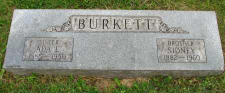 BURKETT, SIDNEY - Seneca County, Ohio | SIDNEY BURKETT - Ohio Gravestone Photos