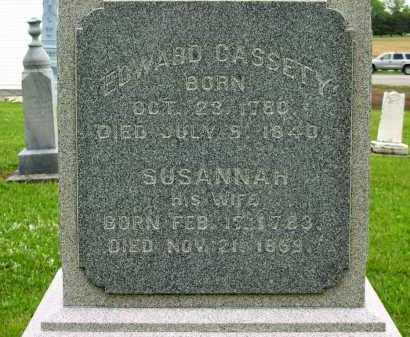 CASSETY, EDWARD - Seneca County, Ohio | EDWARD CASSETY - Ohio Gravestone Photos