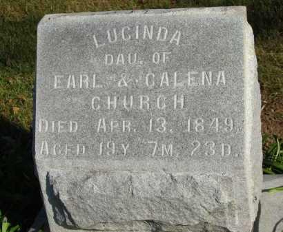 CHURCH, LUCINDA - Seneca County, Ohio | LUCINDA CHURCH - Ohio Gravestone Photos