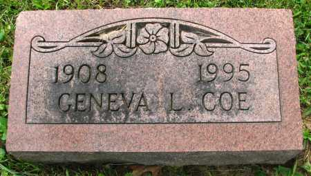 COE, GENEVA - Seneca County, Ohio | GENEVA COE - Ohio Gravestone Photos