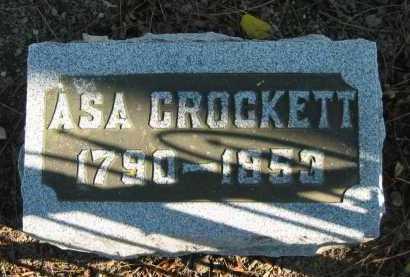 CROCKETT, ASA - Seneca County, Ohio   ASA CROCKETT - Ohio Gravestone Photos
