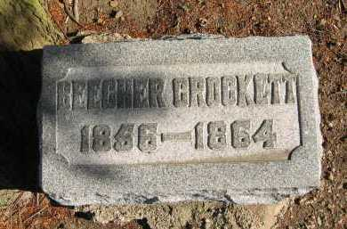 CROCKETT, BEECHER - Seneca County, Ohio | BEECHER CROCKETT - Ohio Gravestone Photos
