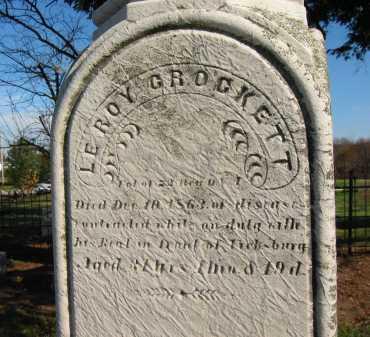 CROCKETT, LEROY - Seneca County, Ohio | LEROY CROCKETT - Ohio Gravestone Photos
