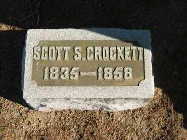 CROCKETT, SCOTT S. - Seneca County, Ohio | SCOTT S. CROCKETT - Ohio Gravestone Photos